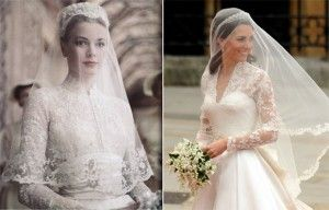 Kate Middleton veste Alexander McQueen no casamento real