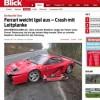 Dono de Ferrari vai desviar de ouriço e acaba batendo carro na Alemanha