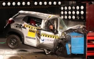 Futuro brasileiro, Renault Kwid zera em teste de colisão