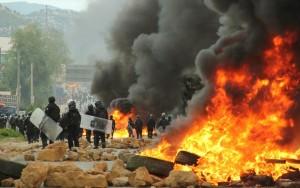 Confronto entre professores e policias deixa oito mortos em protesto no México