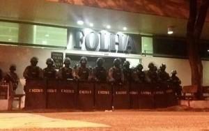 Batalhão de Choque do Estado de São Paulo defende a democracia