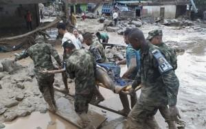 Avalanches deixam pelo menos 154 pessoas mortas no sul da Colômbia