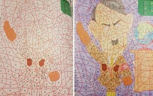 Crianças holandesas pintam revista de colorir e se deparam com figura de Hitler
