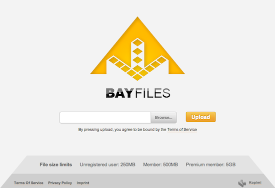 The Pirate Bay cria BayFiles, site concorrente do MegaUpload