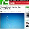 Tela azul que aparece ao usuário do novo Windows indicando erro, traz carinha triste