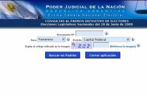 Tribunal Eleitoral da Argentina