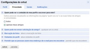 orkut-configuracao